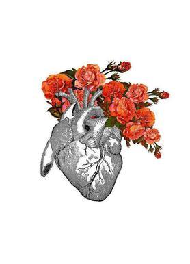 Flowering heart Canvas print