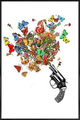 Pow!! Flowers!! Poster in Standard Frame