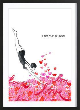 Take The Plunge ingelijste print