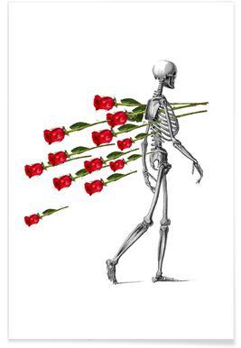 Skeleton & Roses Poster
