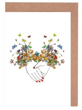 Girl Power Bestie Set de cartes de vœux