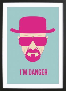 I'm Danger Poster 2 Framed Print