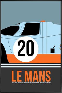 Le Mans Poster 2 ingelijste poster