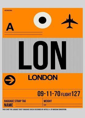 LON-London Impression sur toile
