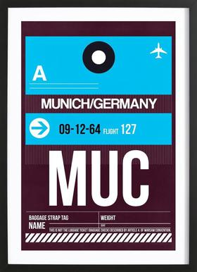 MUC-München as Poster in Standard Frame by Naxart | JUNIQE