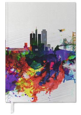 San Francisco Watercolor Skyline 1 Personal Planner