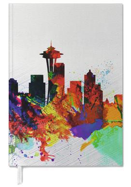 Seattle Watercolor Skyline 2 Personal Planner