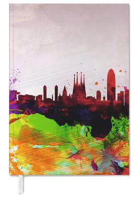 Barcelona Watercolor Skyline Personal Planner