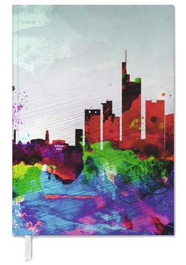 Frankfurt Watercolor Skyline Personal Planner