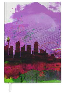 Sydney Watercolor Skyline 2 Personal Planner