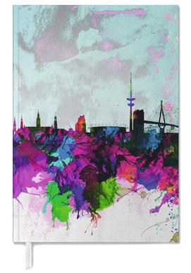 Hamburg Watercolor Skyline Personal Planner