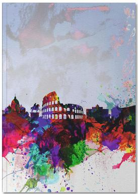 Rome Watercolor Skyline Notebook