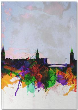 Stockholm Watercolor Skyline Notizbuch