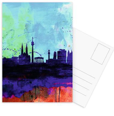 Vienna Watercolor Skyline Postcard Set