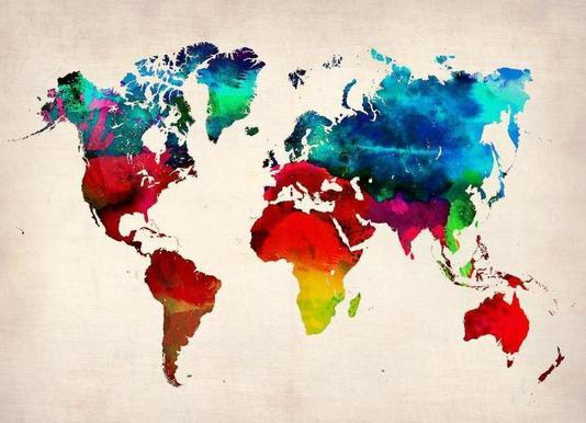 Buy world map canvas prints and art online juniqe uk world map naxart canvas print gumiabroncs Choice Image