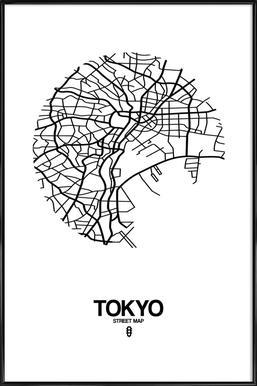 Tokyo Affiche sous cadre standard