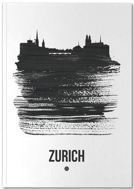 Zurich Skyline Brush Stroke Notizbuch