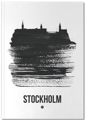 Stockholm Skyline Brush Stroke Notizbuch