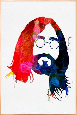 John -Poster im Alurahmen