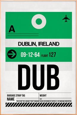 Dublin -Poster im Alurahmen