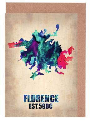 Florence Watercolor Map wenskaartenset