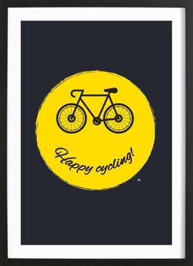 Happy cycling Framed Print