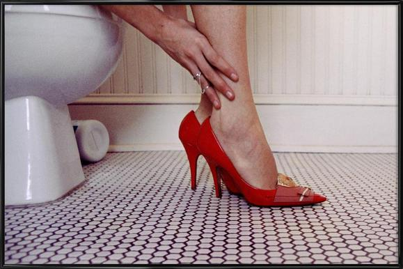 Louis Vuitton Red Shoe Blues Affiche sous cadre standard