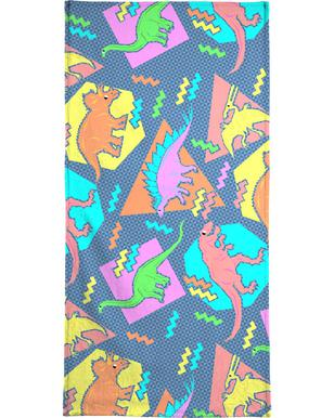 90's Dinosaur Pattern - Chobopop - Hand & Bath Towel