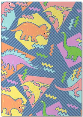 90's Dinosaur Pattern Notebook