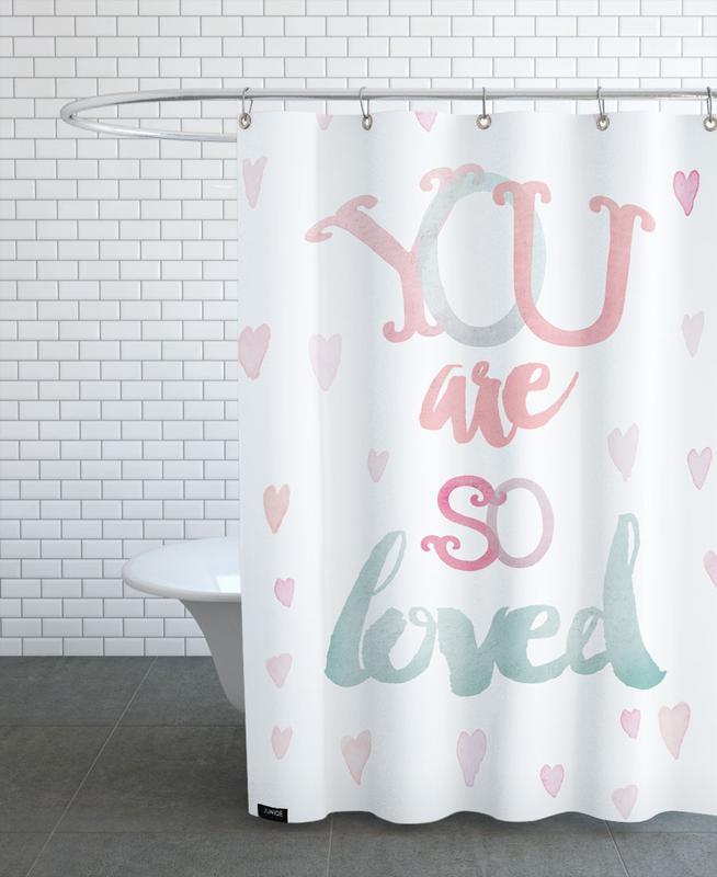 You Are So Loved Duschvorhang   Bad > Duschen > Duschvorhänge   Mehrfarbig   Polyester