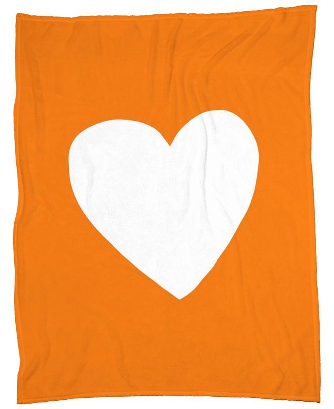 Autumn Heart Fleece Blanket