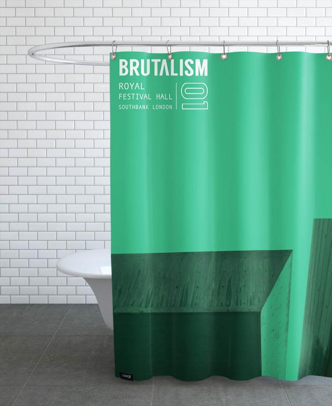 Brutalism -Duschvorhang