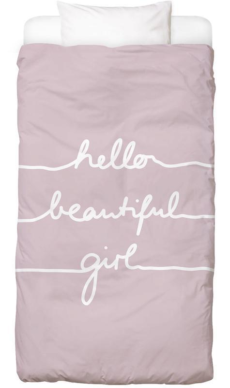 Hello Beautiful Girl Kids' Bedding