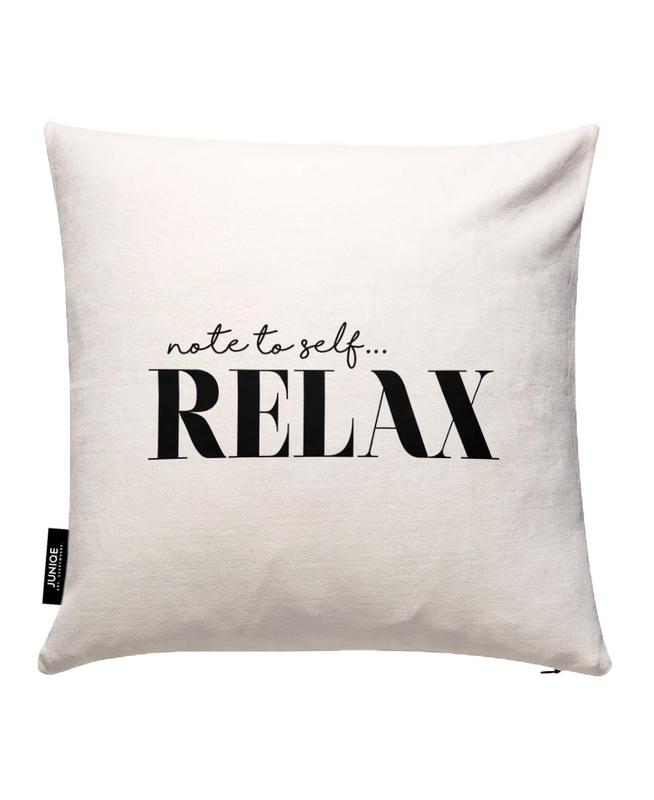 Note To Self Relax Cushion Cover