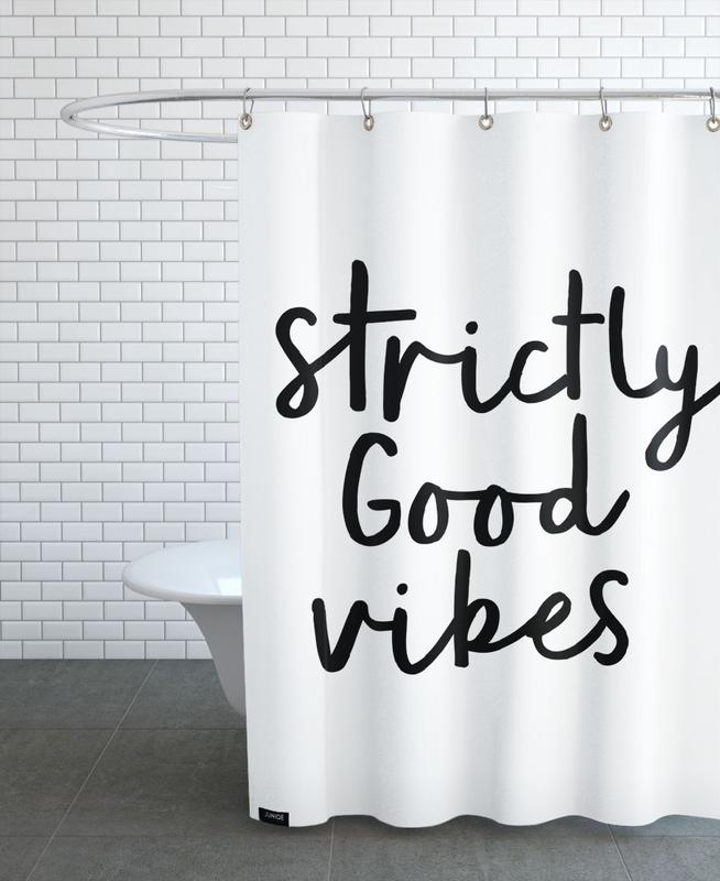 Strictly Good Vibes Shower Curtain