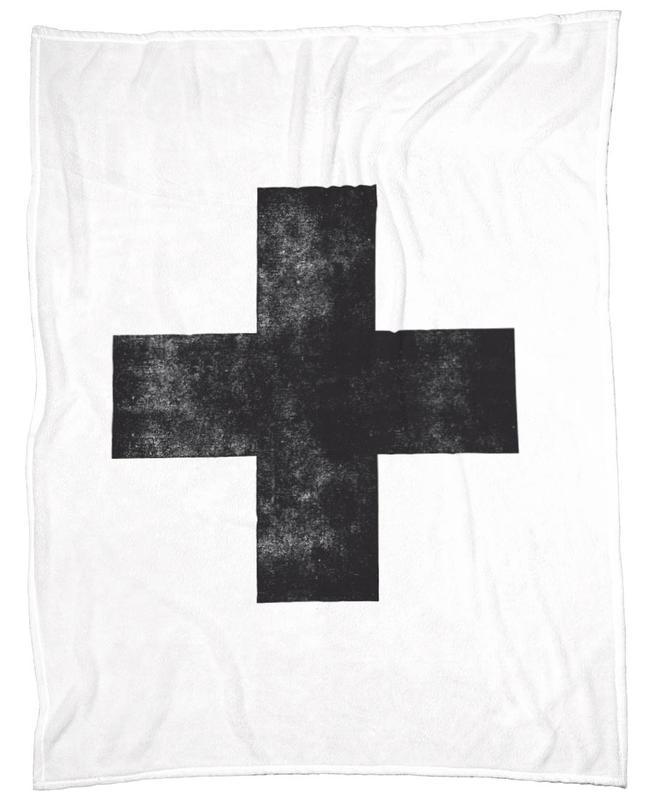 Swiss Cross White Fleecedecke   Heimtextilien > Decken und Kissen > Mehr-Decken   Mehrfarbig