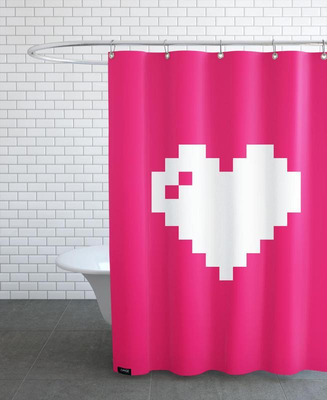 Digi Heart Shower Curtain