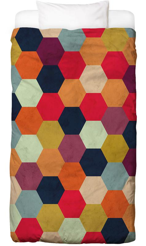 Colorful Beehive Pattern housse de couette enfant