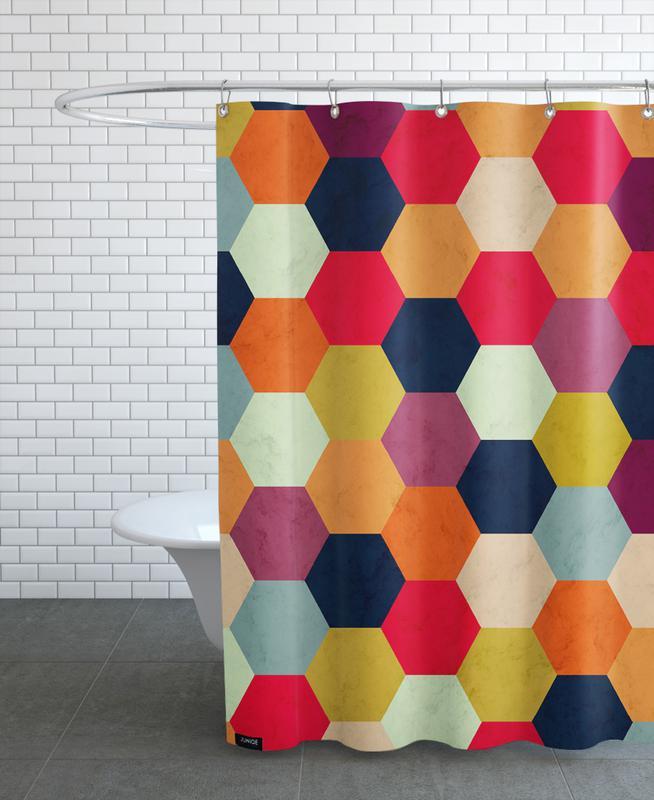 Colorful Beehive Pattern rideau de douche
