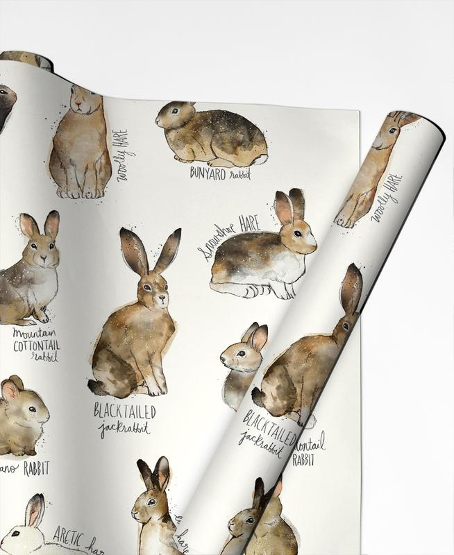 Rabbits and Hares Gift Wrap