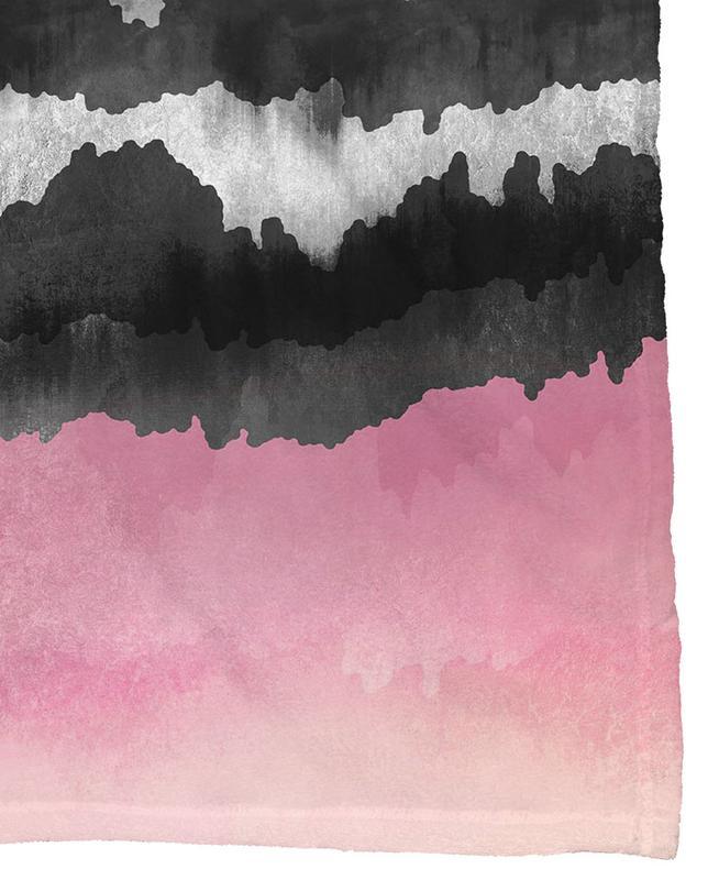Pink Mountains Fleece Blanket