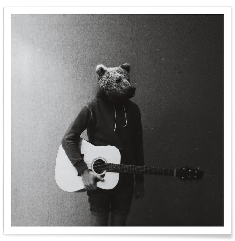 Animals in my room - Bear affiche