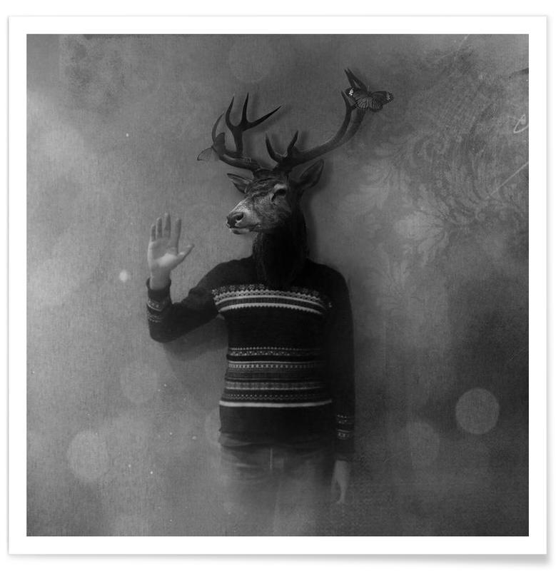 Animals in my room - Deer affiche