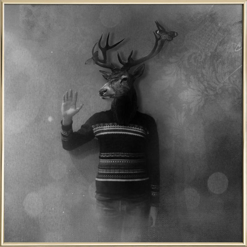 Animals in my room - Deer Poster in Aluminium Frame