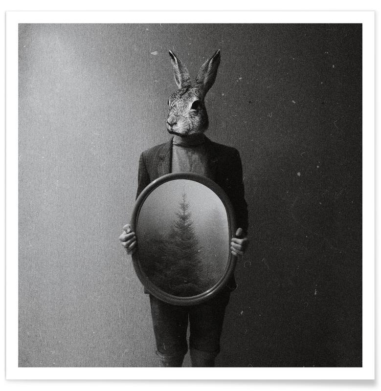 Animals in my room - Rabbit affiche