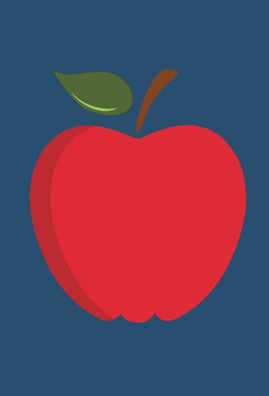 The Red Apple Poster Aluminium Print