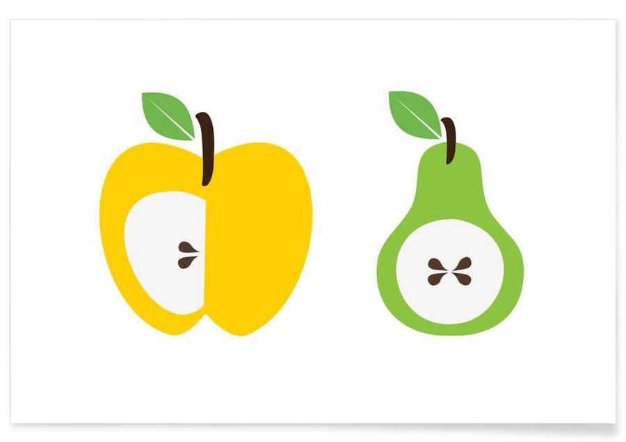 The Apple And Pear Poster -Poster