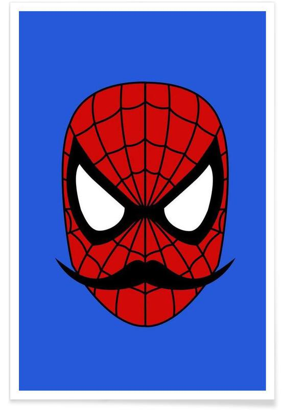 Spider Stache affiche