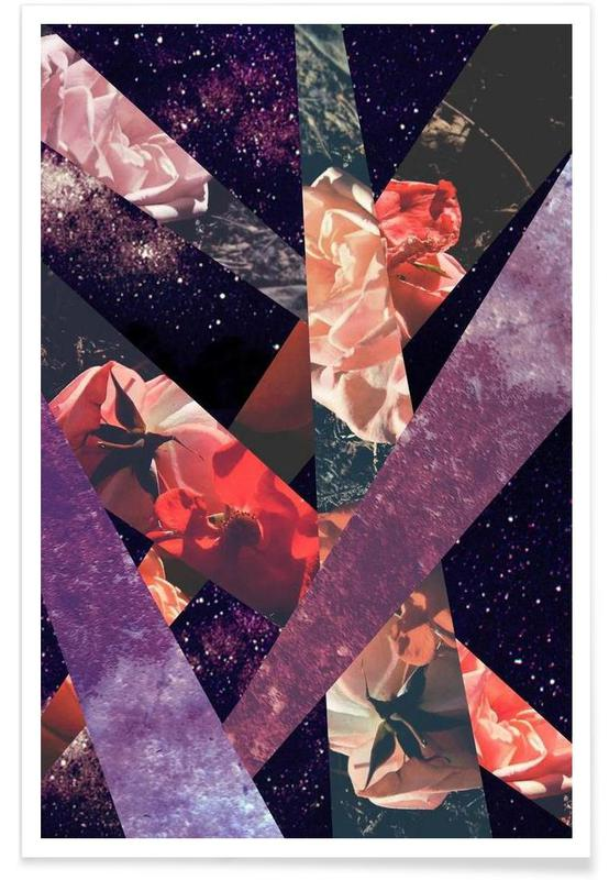 Roses in the galaxy Poster