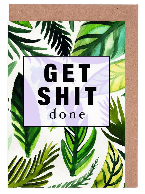 Get Shit Done Grußkartenset